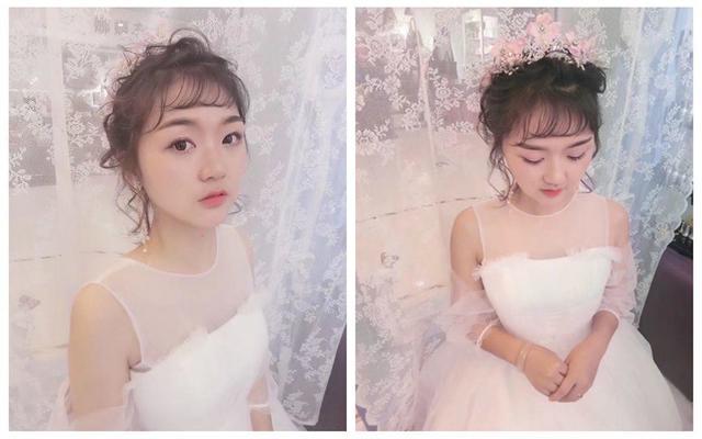 韩式减龄妆抽丝造型甜美清新小公举免费试妆