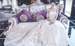 婉纱仙妮品牌-婚纱礼服系列2018新款一字肩长拖