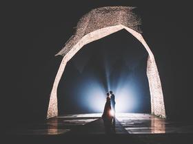 独家炫丽夜景婚纱照拍摄