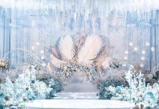 【金典幸福】细腻浅蓝婚礼《 Feather 》