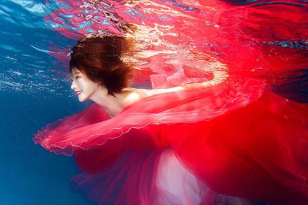 一组水下摄影作品~仙不仙啊?