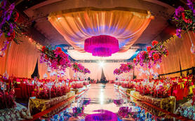 阿兰婚礼会馆-紫蓝色-现代奢华大气婚礼