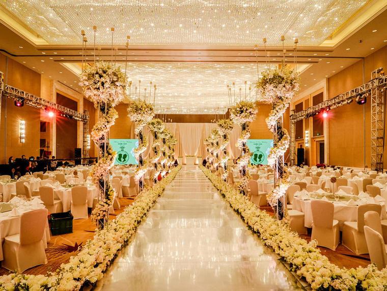 【婚礼鲜花布置】轻奢明场含资深工作人员