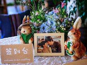 让婚礼氛围变的亲切休闲,慢情调的花艺场地布置套餐