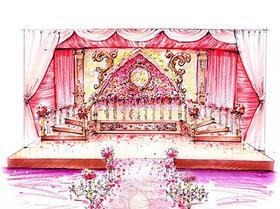 2元【婚礼现场手绘图】限前50名抢定