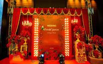 高贵典雅金红主题婚礼——东方茉莉