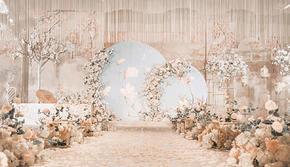 19年最热新中式 小预算大场面 香槟色婚礼