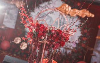 【喜尔婚礼】红金色祥云中式 20桌小厅之选