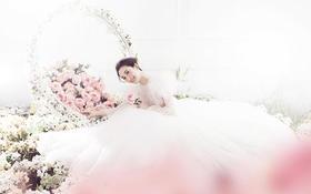 粉色浪漫◆金夫人稀区文艺会馆梦幻花海创意婚纱照