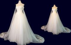 白婚纱,如飘烟; 红颜新妆比花艳