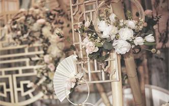 【鹿小姐婚礼中心】|复古新中式一树繁花婚礼送婚纱