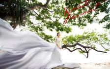 【三亚站】摄影总监蜈支洲岛送全新大拖尾婚纱高清M
