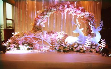 皇嘉主意婚礼-裸粉色浪漫主题婚礼(甜蜜)