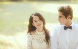 唯美韩式系列婚纱照 原野森林大观园外景