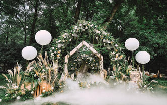 【拾光婚礼】Home丨森系小清新户外草坪婚礼