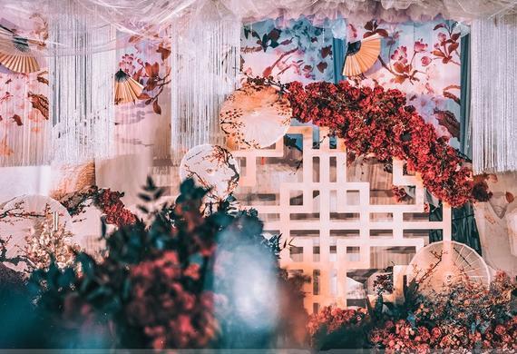 唯美中式婚礼《歆颖》晨曦微,雾色稀,淡淡素帐