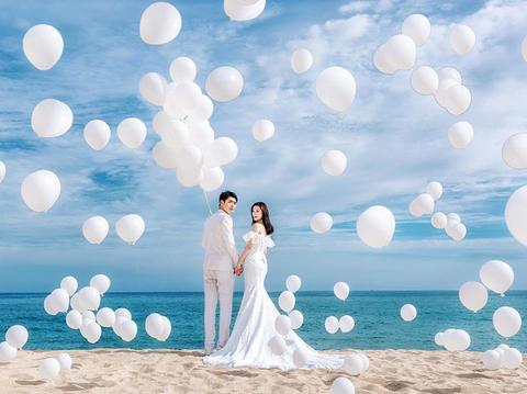 人气推荐【补贴机票】 告白气球 网红水中婚纱