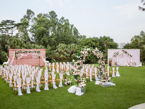 观澜度假酒店户外草坪婚礼
