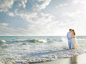 八月风尚-两天拍摄北戴河海景婚纱照套系