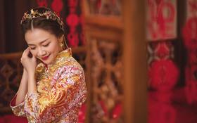 粉色新中式的古典与优雅。
