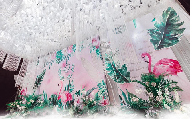 『清新火烈鸟』浪漫风 可根据场地调整内容及费用