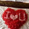 婚房布置超nice 花瓣与婚床更配哦!