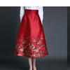想买套特别简约大方,最好是大红半身裙得敬酒服,求图,求推荐!