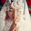 高个子的简约婚纱照  美哭了