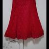 台湾布蕾丝红礼服敬酒服旗袍高领无袖鱼尾蕾丝