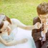 大女人小男人的草坪婚礼 跟我拍照老公秒变娇羞
