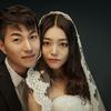 遇上上海好男人,经典韩式杂志风+夜景珍藏婚纱照