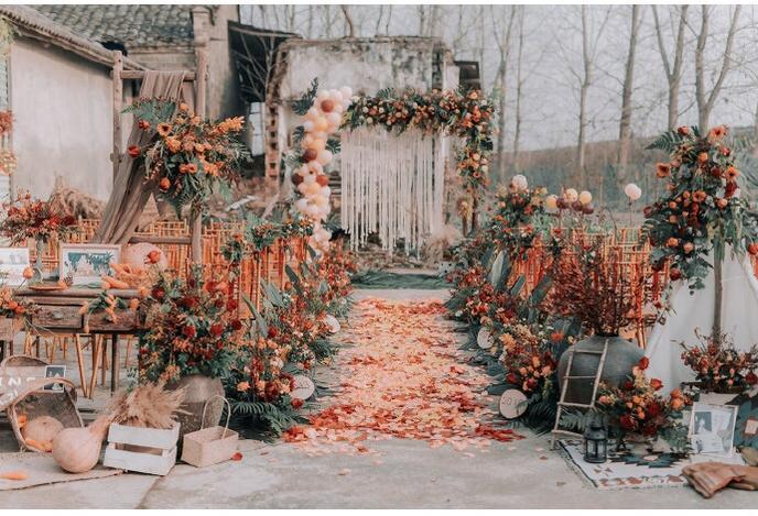 DIY农村婚礼超时尚!变废为宝我的婚礼省钱有洋气