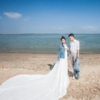 海边公路油画婚纱照