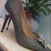 出售婚鞋,5 厘米高,36码,红色和银色。