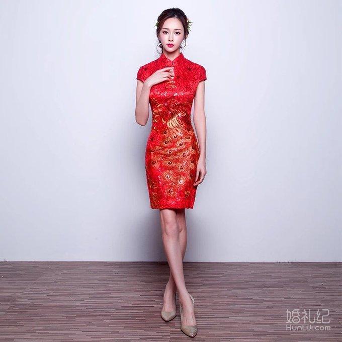 婚纱 含头纱披肩,手套;龙凤褂喊秀禾鞋、红盖头;敬酒服低价转让