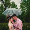 雨水也浇不灭的少女心 雨天的草坪婚礼