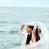 取景北戴河,来自爱情之海的甜蜜婚照