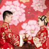 婆婆果然最爱这套大红的中式内景。。