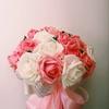 手捧花,新的就没用,结婚当天嫂子给做了一个巧克力手捧花