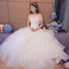 网淘婚纱效果很满意 自己在家试婚纱