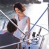 游艇与夕阳  霸气绝美婚纱照