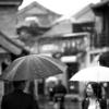 下雨天拍婚纱照,天公不作美却有好风景
