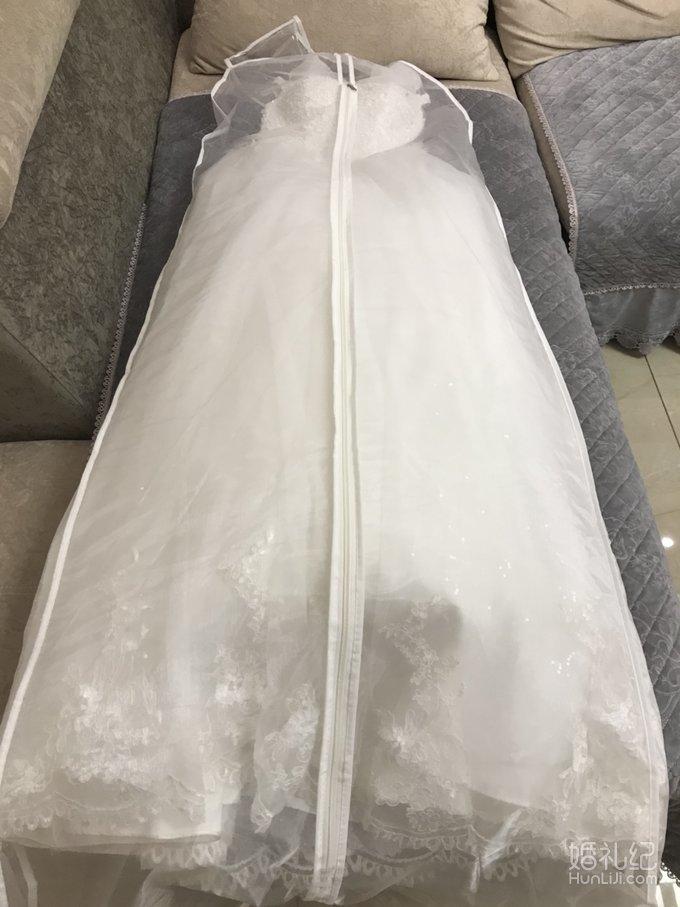 转婚纱.婚鞋.敬酒服.全新披肩.送伴娘服一件长头纱