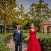 秋季黄色婚纱照