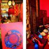 红蓝撞色的中式婚礼现场 小矮子酒店如何玩转高逼格