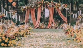超划算户外秋色系婚礼