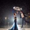 花2万拍的婚纱照 外滩与雨景更搭