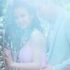 紫色梦幻婚纱照,还是在森林拍的