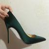 绿色高跟鞋做婚鞋 我想做第1人!