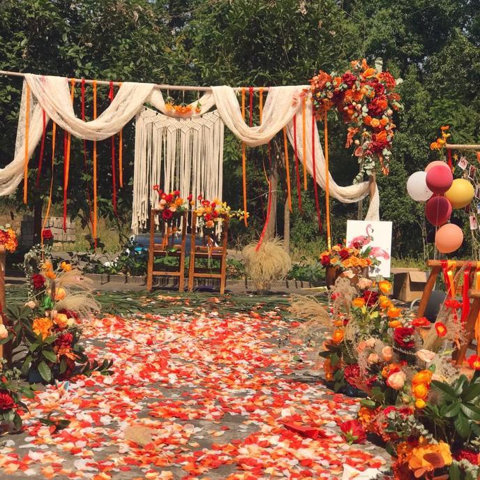 靠网购布置了我的婚礼,只花了1500,办出了1w的效果